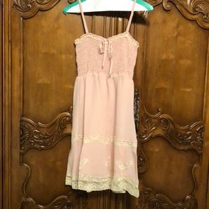 Betsey Johnson Collection Pink and Cream Dress